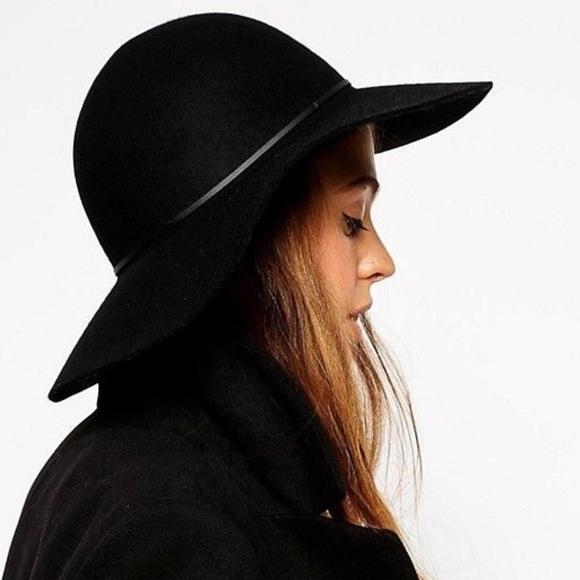 ASOS Accessories - Women s ASOS Black Felt Floppy Hat a7e59ca44d0